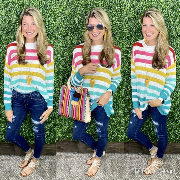 Marley Multi Striped Lightweight Sweater