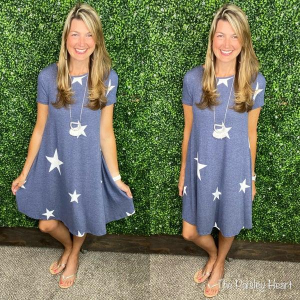 Set on Stars Midi Dress - JULY SPECIAL!!