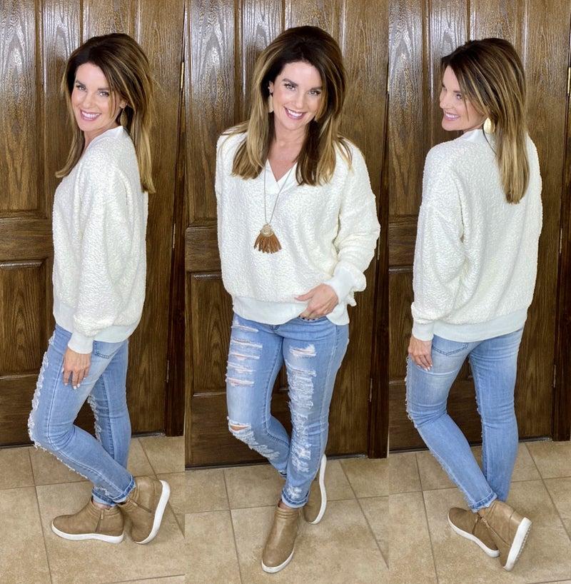 Winter White Pullover