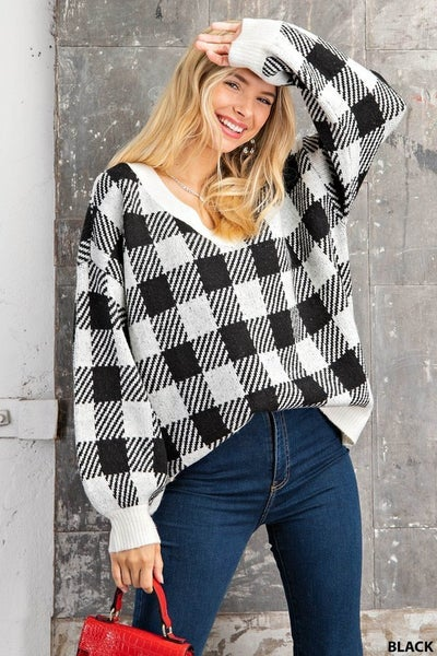 Cabin Fever Plaid Sweater