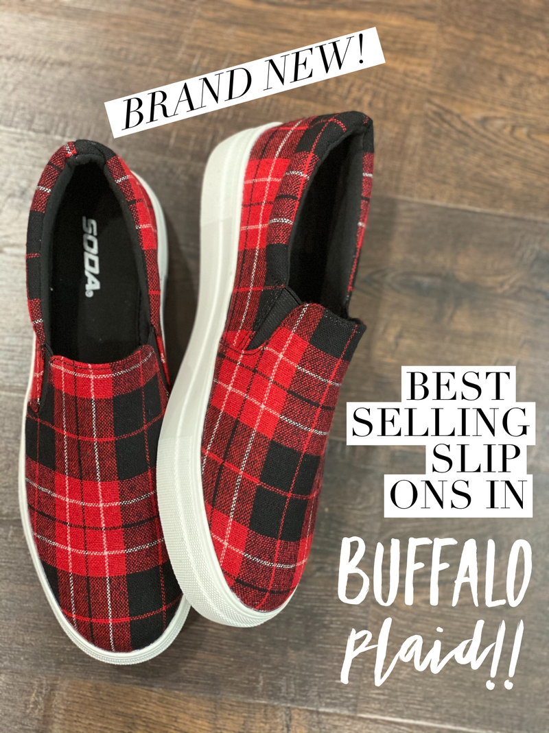 MUST HAVE Comfy Buffalo Plaid  Slides