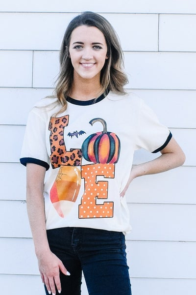 Fall LOVE Graphic Ringer Tee