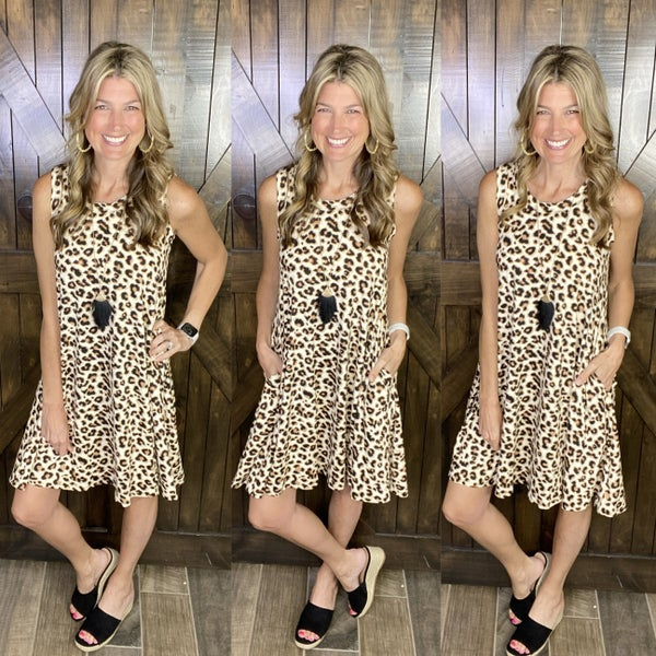 For the Love of Leopard Dress