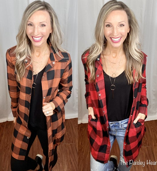 Boyfriend's Plaid Coat