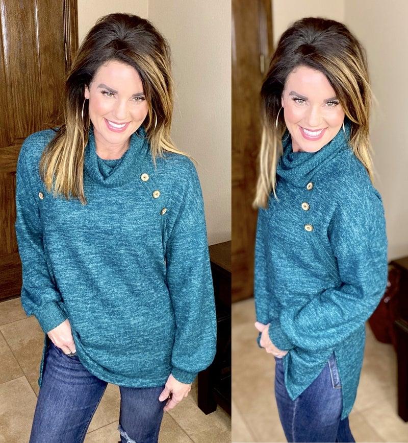 Bella Button Sweater