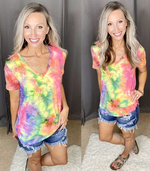 Tie Dye V-Neck Must Have