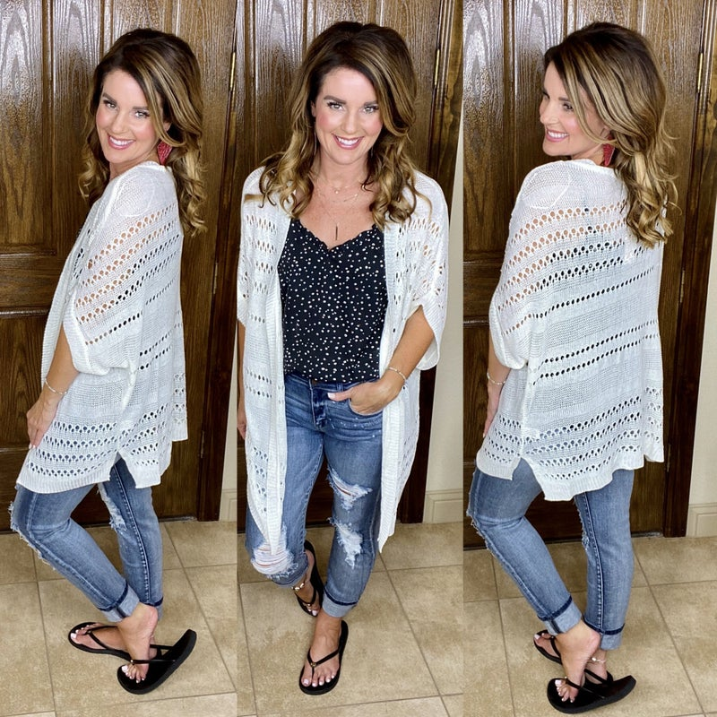 Lightweight Relaxed Open Front Cardigan