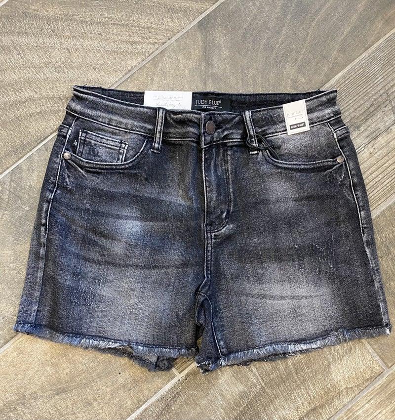 Vintage Black Judy Blue Raw Edge Shorts