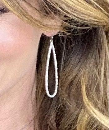 Gala Evening Tear Drop Dangle Earrings