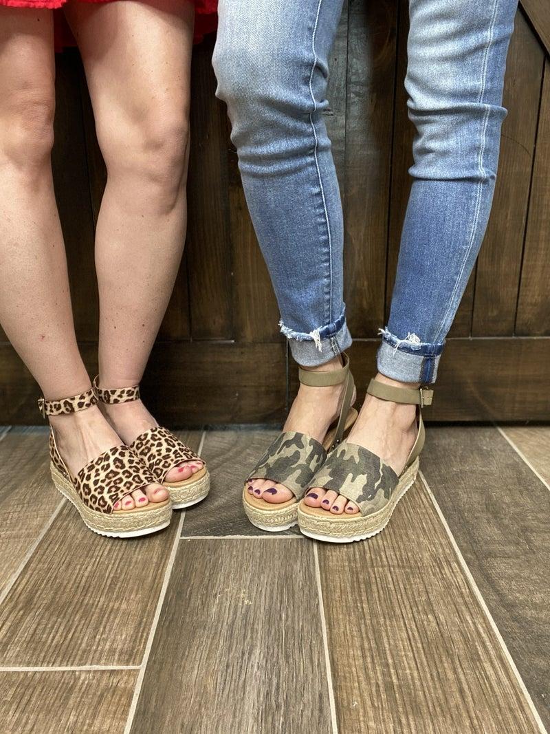 Womens Casual Espadrilles Trim Wedge Sandal