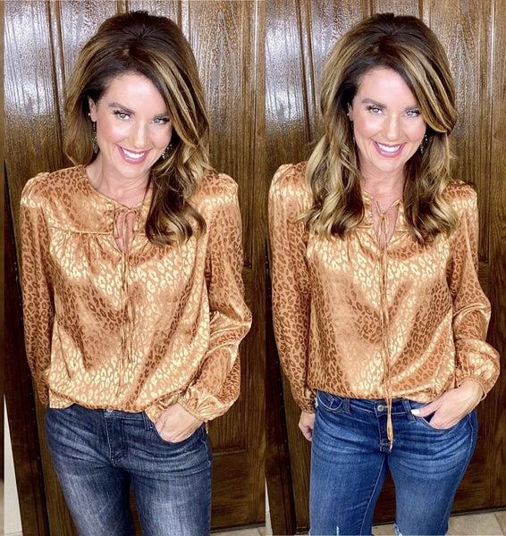 Kendall Caramel Dressy Top