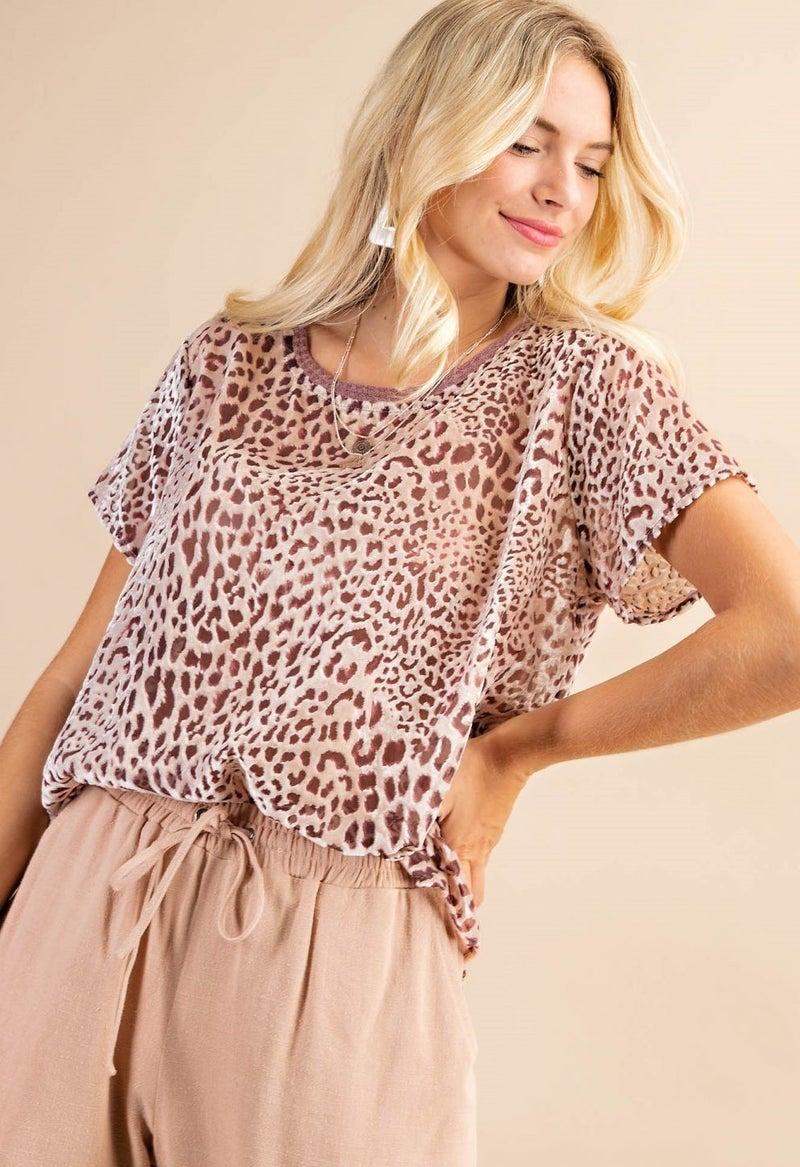 Cleo Leopard Top