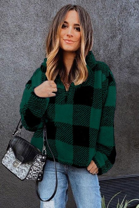 Colorado Plaid Half Zip Pullover