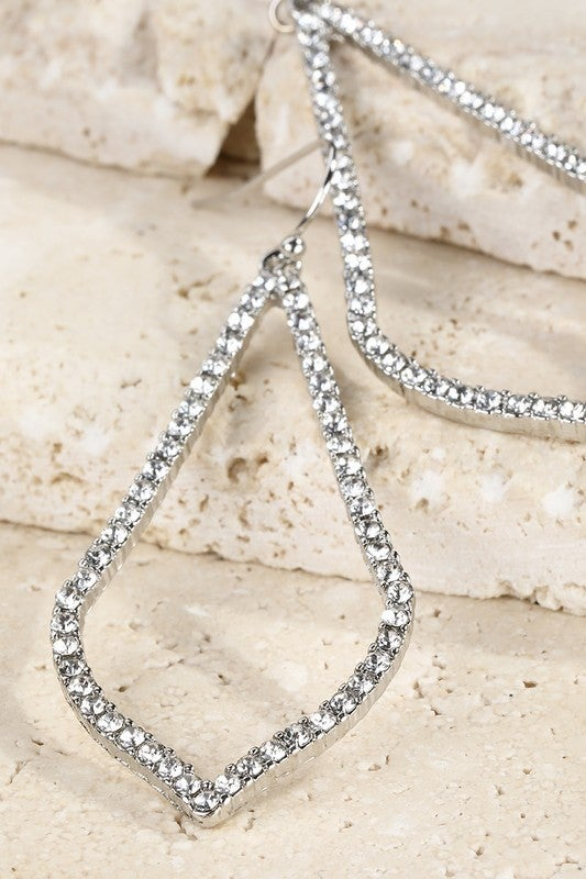 Pave Marquise Earrings