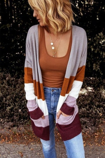 All About The Colorblock Cardigan