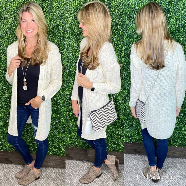 Better When Comfortable Open Front Cardigan