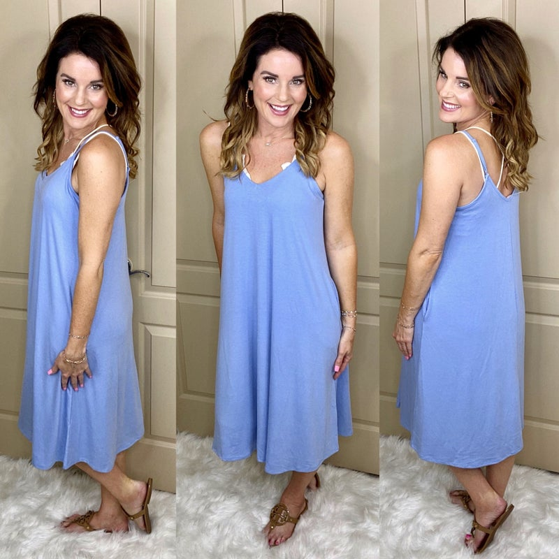 Solid Summer Strappy Dress