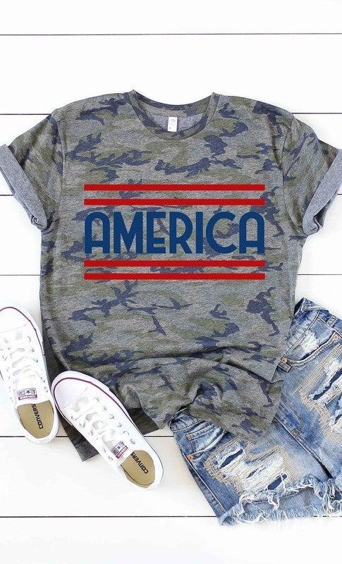 Camo America Graphic Tee