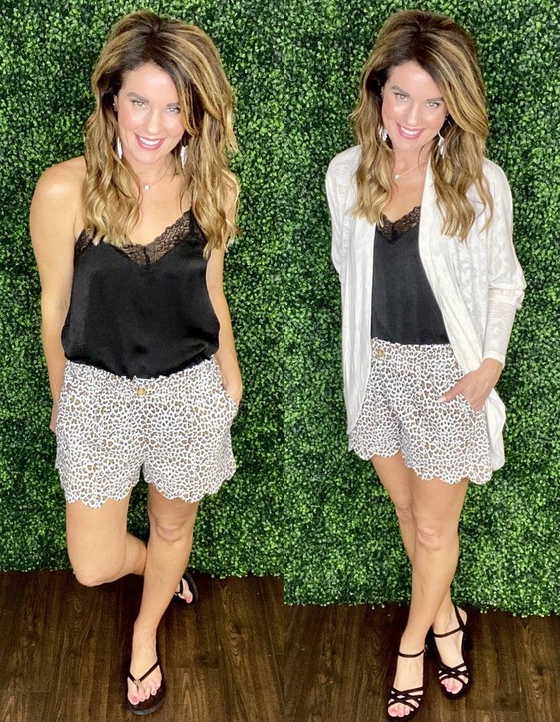 Eliza Cheetah Shorts