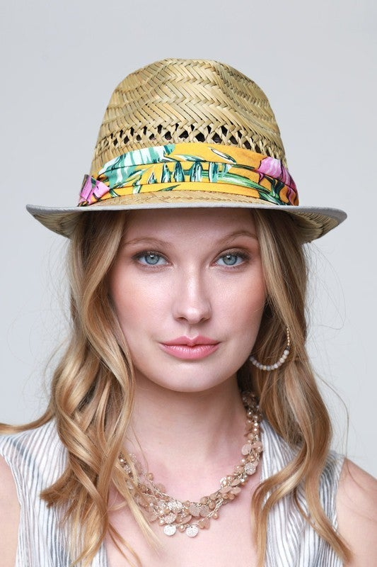 Summer Straw Trilby Hat - 2 Colors