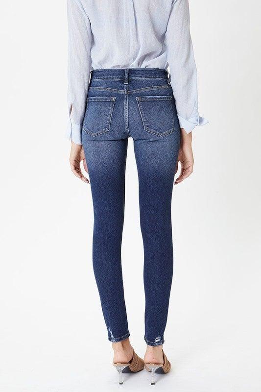 Signature KanCan Favorite Mid Rise Distressed Skinny Jeans