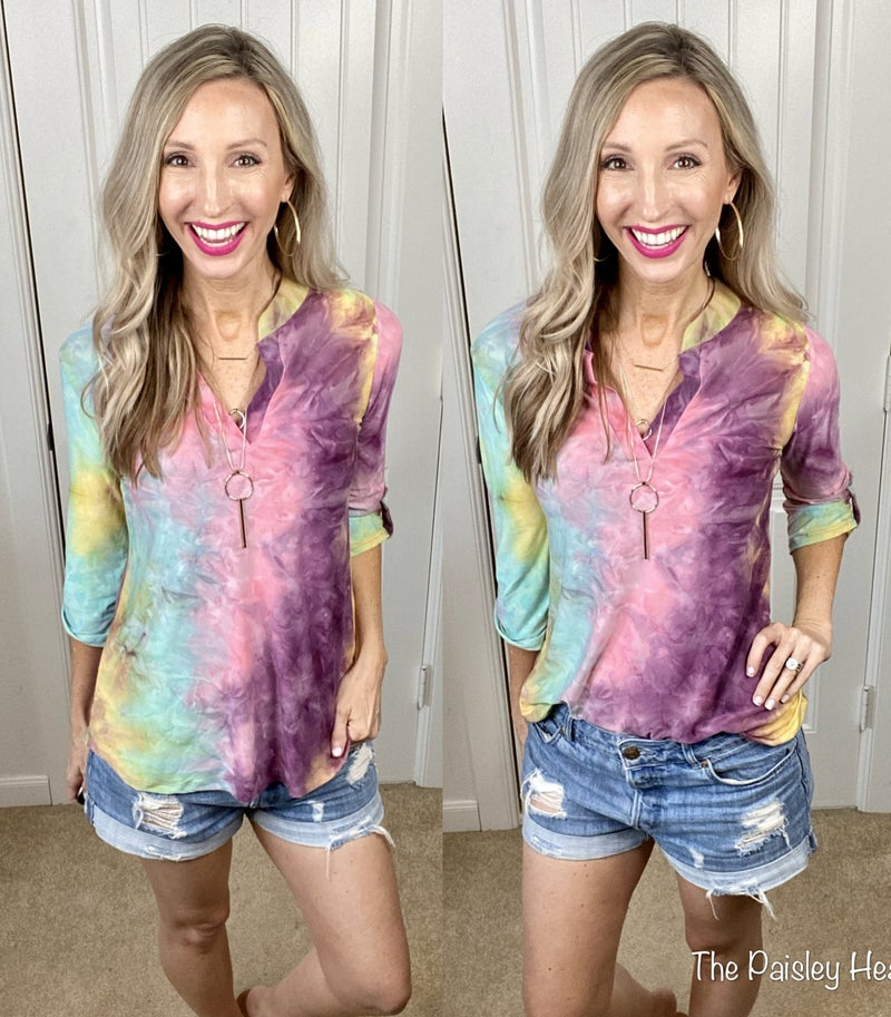 Ombre Tie Dye Work to Play Top