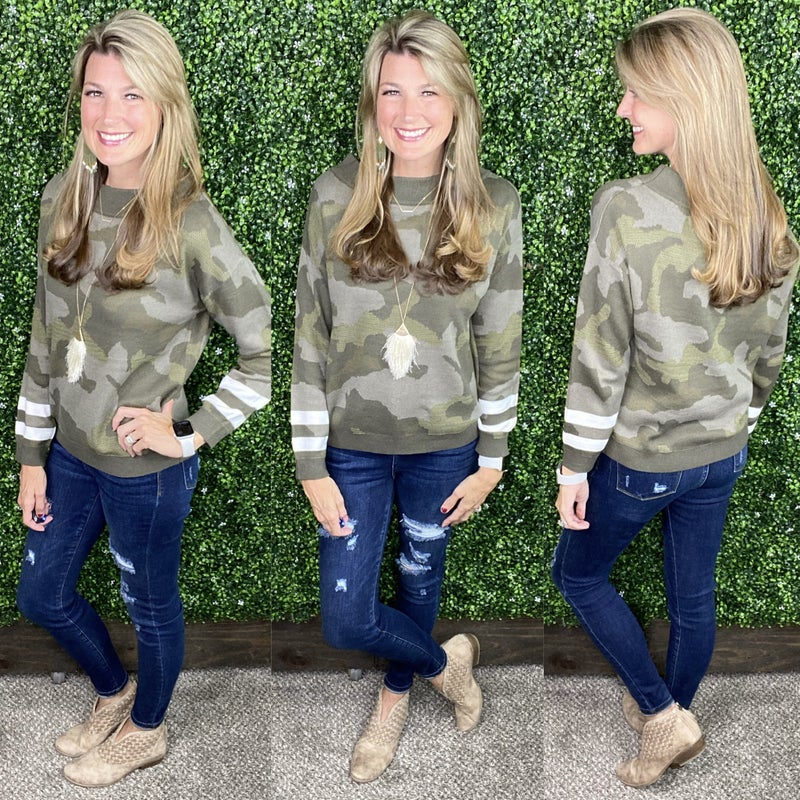 Finders Keepers Camo Sweater