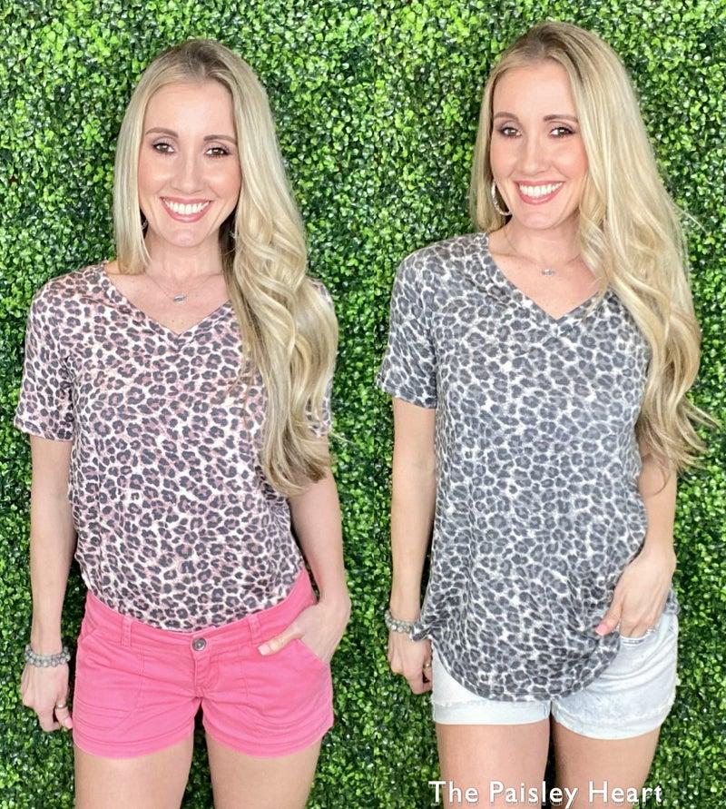 Leopard Dreams Top: 2 Colors!