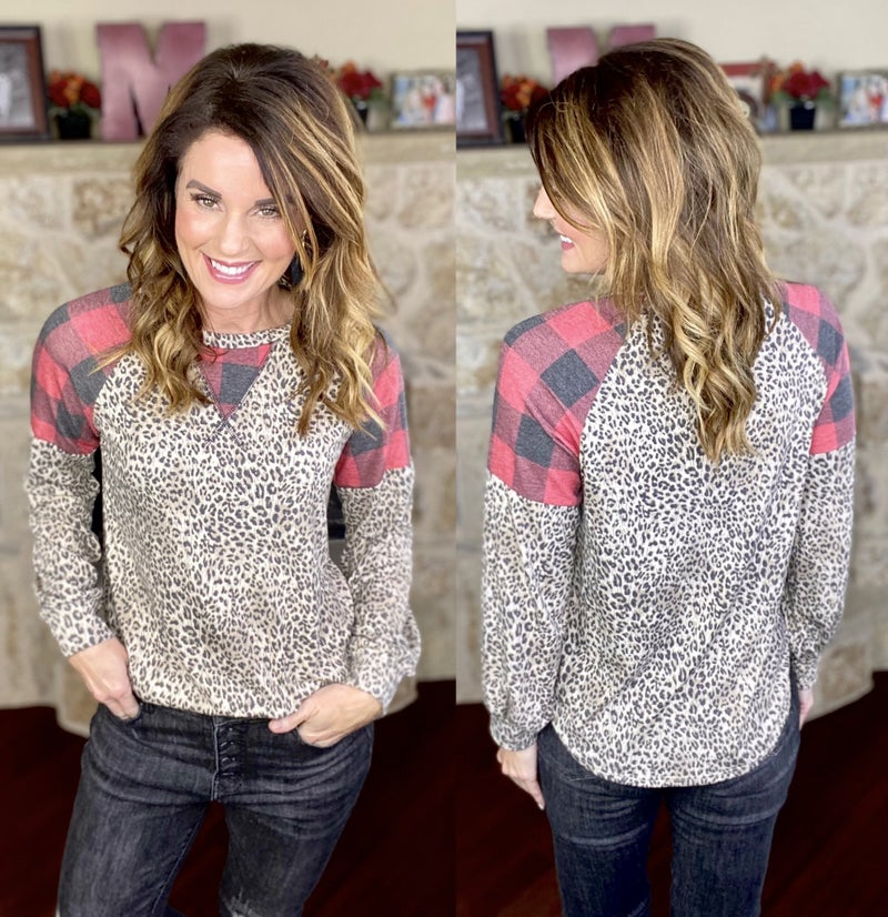 A Touch Of Plaid Top