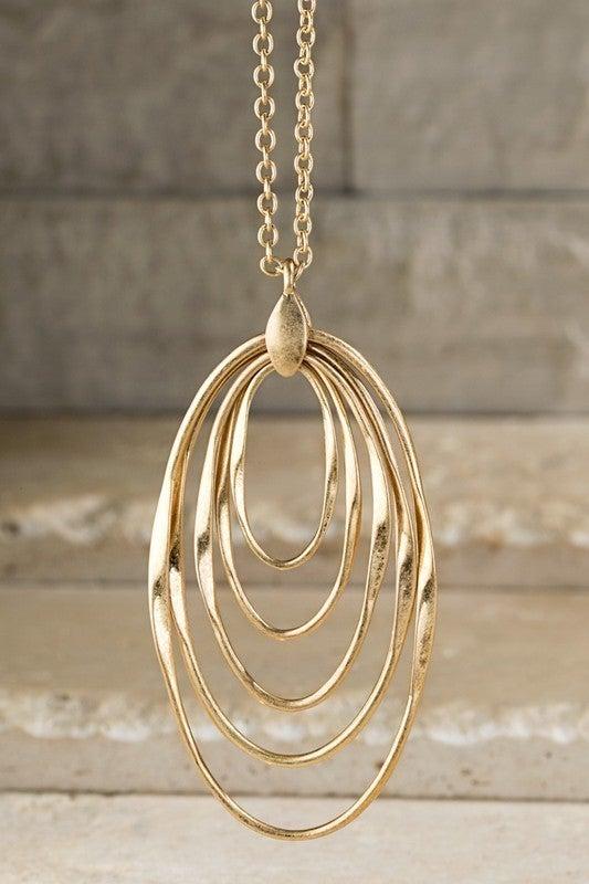 Everyday Fabulous Layered Ovals Necklace