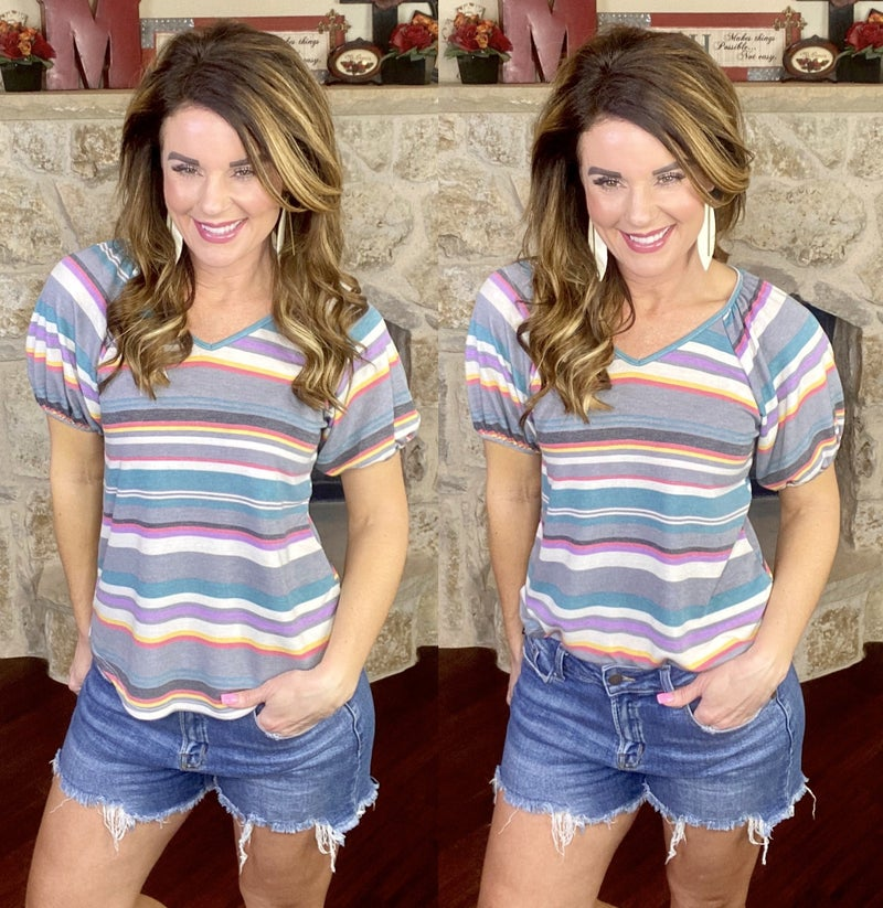Places To Be Striped Top