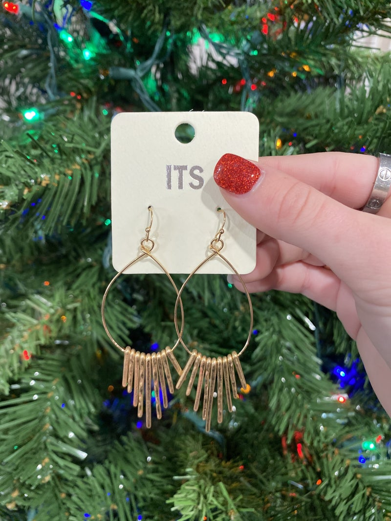 Big Plans Earrings - Gold or  Silver