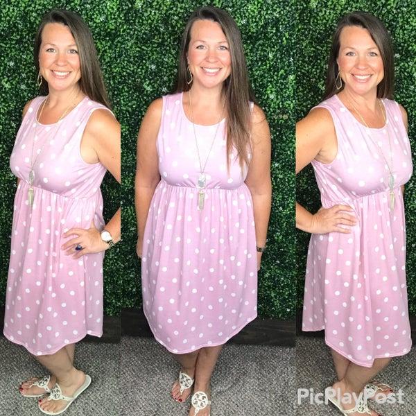 Prettier Pink Polka Dots Dress