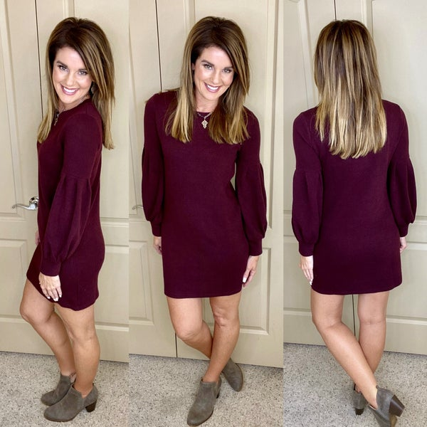 Cicily Rib Knit Solid Dress
