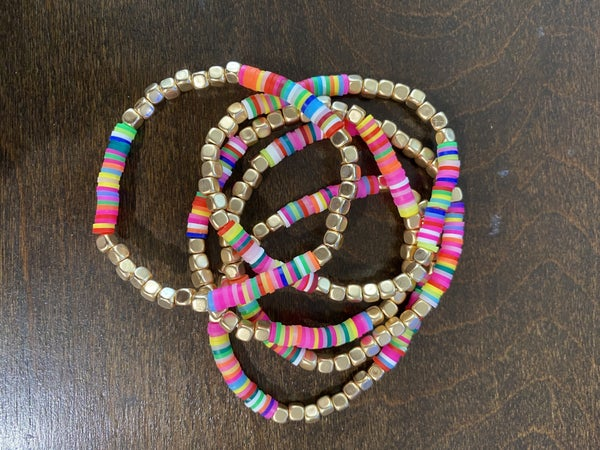 Disc Beaded Stretch 5 Piece Bracelet Set - LMTD//NO RESTOCK!