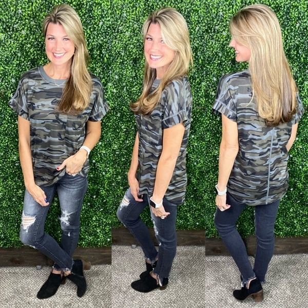 Weekend Camo Top