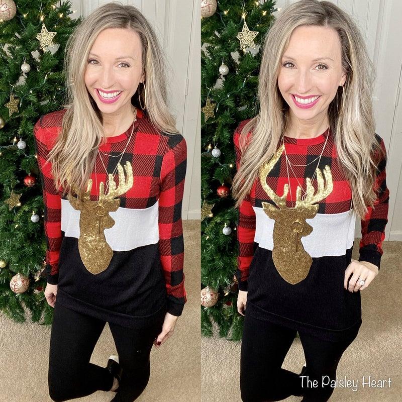 Reindeer Glam Sweater