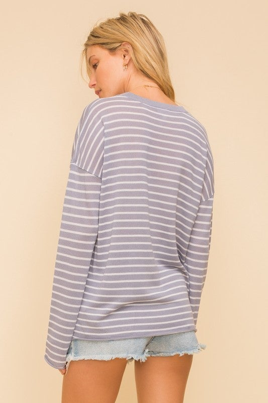 Valley Babe Striped Top