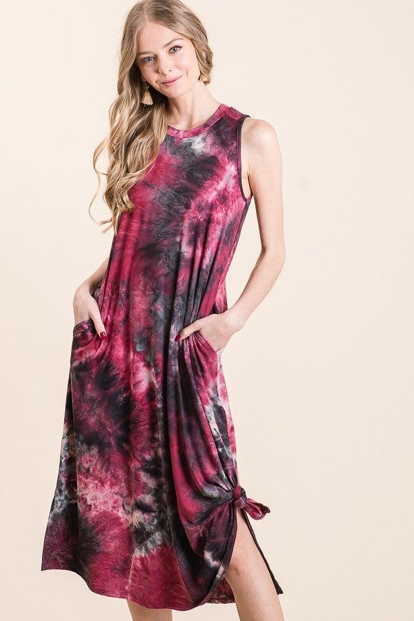 Carmen Tie Dye Midi Dress
