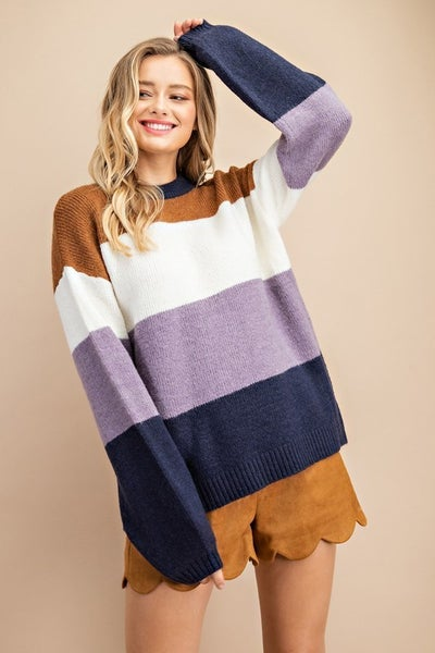 Fall Feels Colorblock Sweater