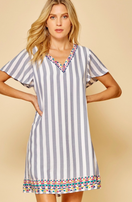 Boardwalk Brunch Stripe Dress