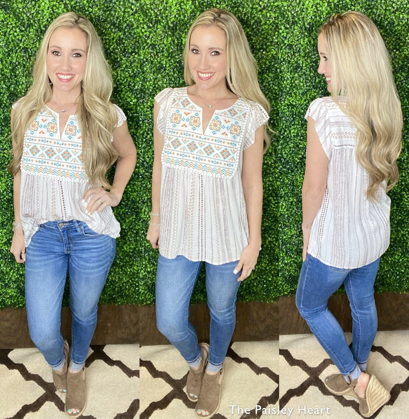 Step Into Spring Top