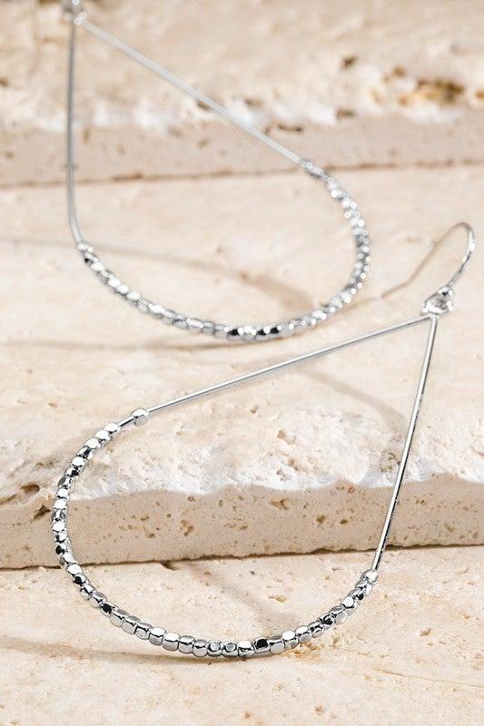 Beaded Lightweight Teardrop Earrings