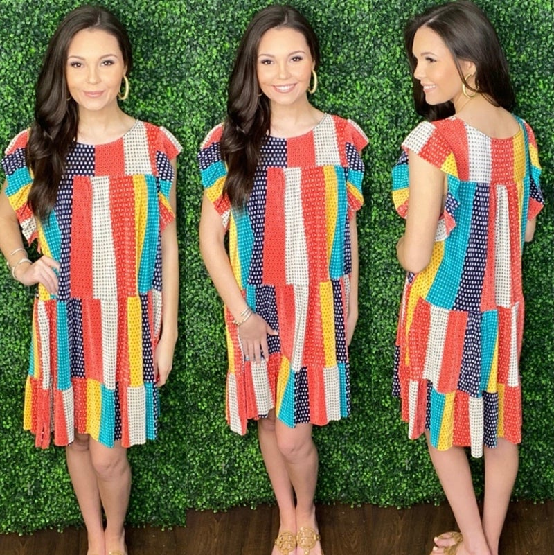 Patched Beauty Dress