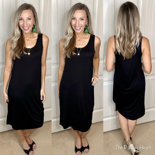 Summer Black Comfy Dress