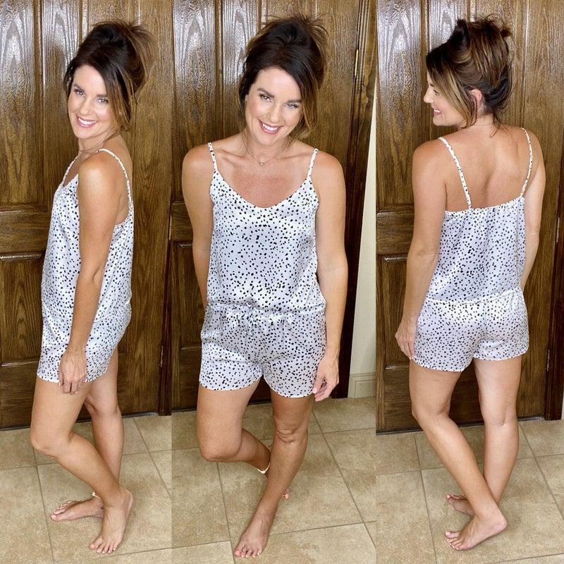 Satin Cami And Shorts Pajamas Set