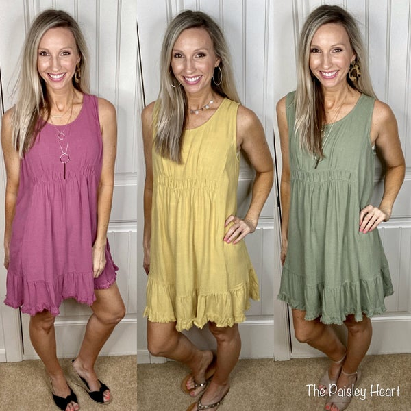 Summer Delight Tank Dress - 3 COLORS!
