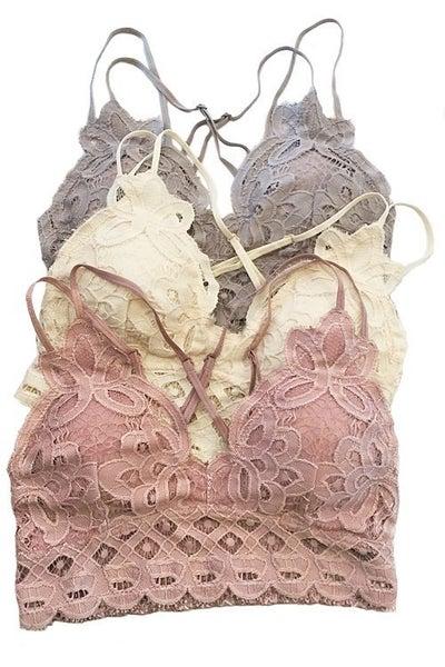 Strappy Crochet Lace Bralette