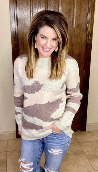 Callie Camo Sweater