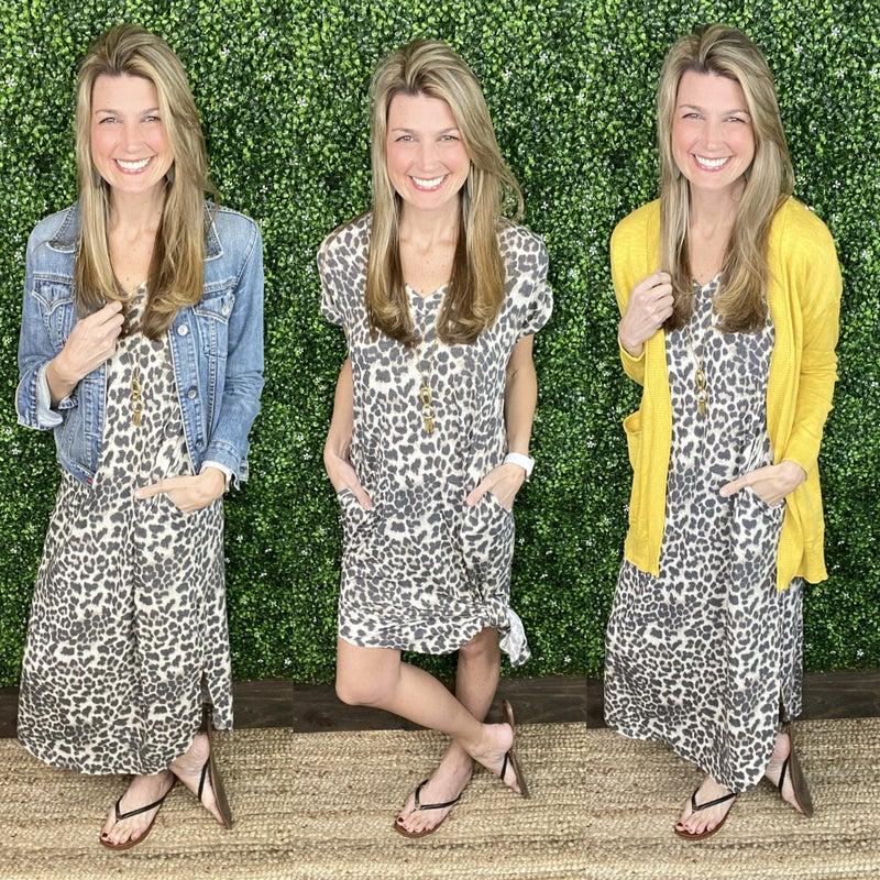Curtain Call Leopard Dress